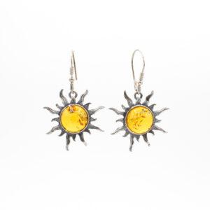 amber sun earrings