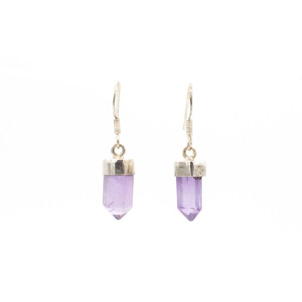 amethyst points earrings