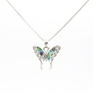 butterfly abalone pendant