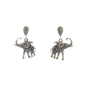 marcasite elephant earrings