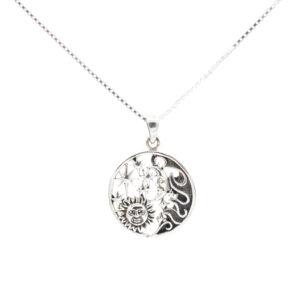 silver celestial pendant
