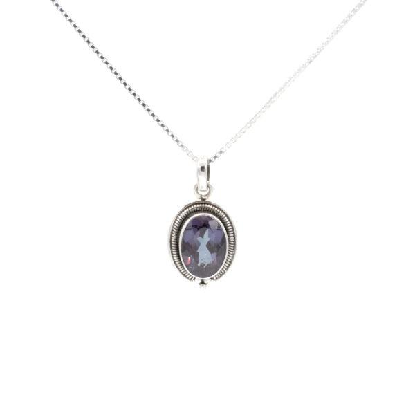 synthetic alexandrite pendant